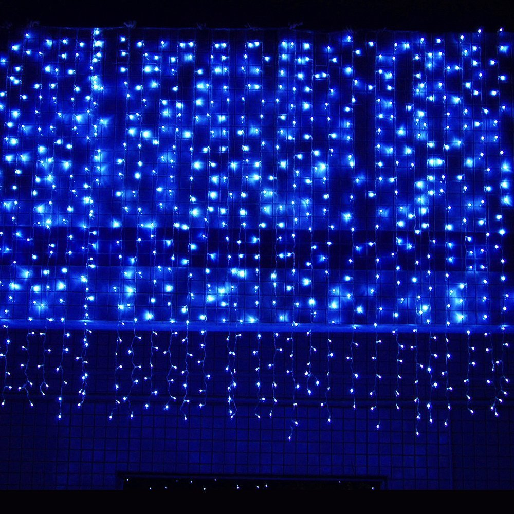 ᗗ4m * 5m 640 LED Curtain lights Christmas string kerst verlichting ...