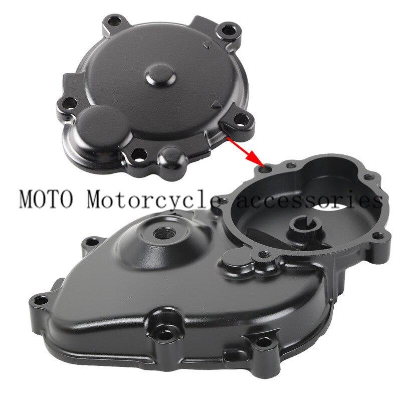 Черный мотоцикл картера двигателя стартер чехол с уплотнителем для Кавасаки ниндзя запросу zx6r ZX в-6р zx600 инструкция по 2009-2011 2010 08 09 10 11