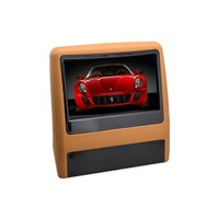 9 inch 800*480 18V FM IR Auto Car Headrest DVD Player monitor MP3MP4 Auto Rear Seat Entertainment Audio Video remote control Hot