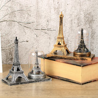 European Style Retro Plastic Home Decoration Crafts Vintage Eiffel Tower Light Ornament Creative Birthday Craft Gift For Friends