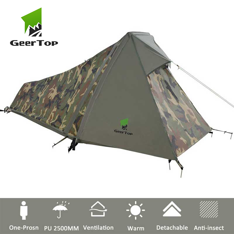 GeerTop One Person 3 to 4 Season Lightweight Backpacking Bivy Tent Compact Bivvy Camping Tent for