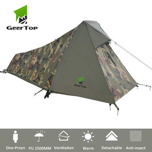 GeerTop One Person 3 to 4 Season Lightweight Backpacking Bivy Tent Compact Bivvy Camping for Outdoor Hiking Travel Tourist