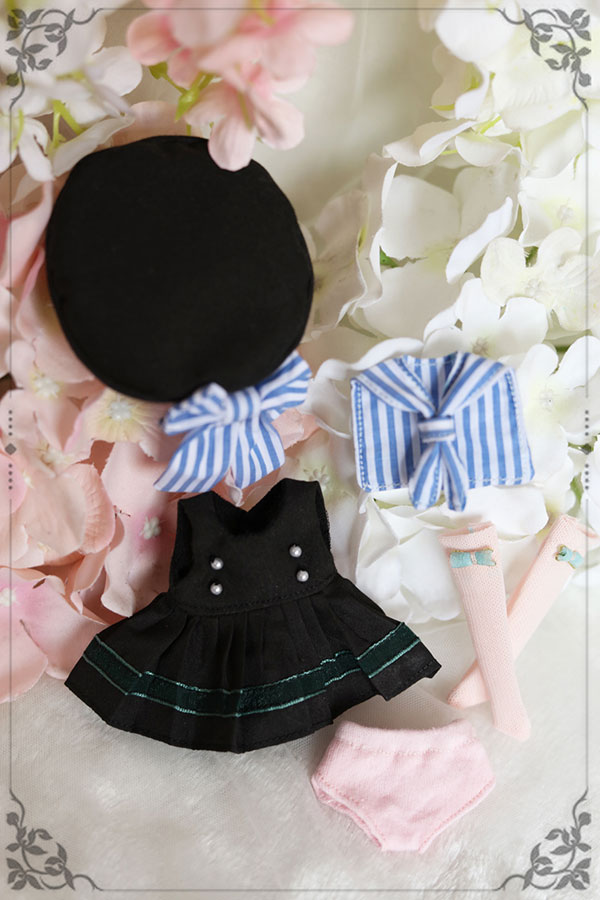 BJD doll clothes suit black Western style clothes Sailor suit for 1/6 1/8 BJD Imda3.0 doll clothes accessories