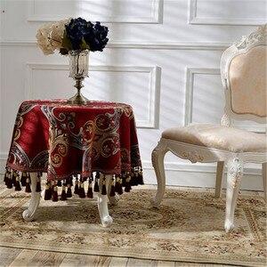 Image 3 - ZHUO MO lüks avrupa tarzı yuvarlak masa örtüsü tafelkleed ev dekorasyon için restoran masa örtüsü masa masa örtüsü