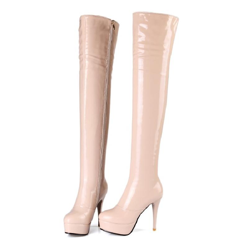 winter boots women over the knee boots 2017 high heel sexy boots fashion platform boot pink red black big size 43 shoes &cm-11 women over the knee boots black velvet long boots ladies high heel boots sexy winter shoes chunky heel thigh high boots