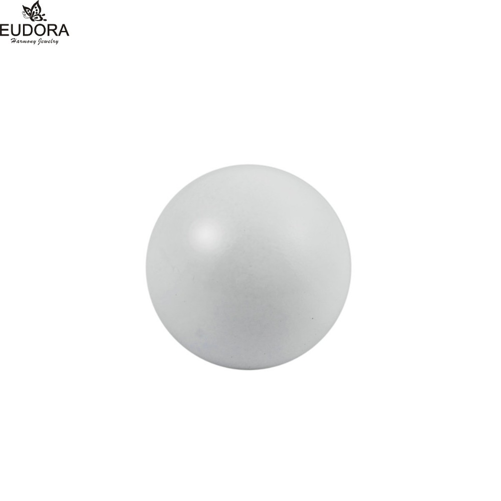 10PCS White Pregnancy Ball Eudora Harmony Ball 12mm/14mm/16mm/18mm/20mm Baby Caller Mexican Bola Pendant Chime Ball Jewelry