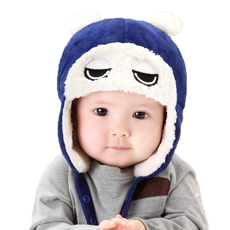 Children's winter hats Big eyes Lei Feng hat ear muffs cap newborn photography props baby hats for children Headwear baby caps