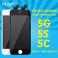 Moeff AAA Top Quality LCD Touch Screen For Iphone 5 5S 5C LCDs Display Replacement Touch
