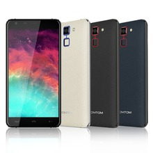 Ht30 homtom smartphone 5.5 pulgadas android 6.0 mtk6580 quad core 1 GB RAM 8 GB ROM 8MP Cámara Escáner De Huellas Digitales 3000 mAh Teléfono OTA