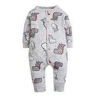 2017 New Fashion Newborn Baby Ropmer Cartoon Car Long Sleeve Baby Boy Girl Clothes 100 Cotton