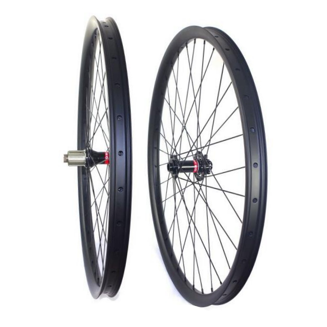 27.5ER/650B MTB AM/DH clincher tubeless read carbon wheels Hookless 40mm wide 30mm depth hoolless mountain bike carbon wheelset carbon mtb 650b rims stiffer dh bike part 27 5er 35x25mm wide down hill jumping racing ride excellent cycling parts store online