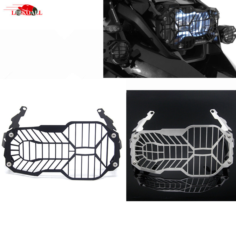 CNC Motorcycle Headlight Guard Protector Cover For BMW R1200GS R 1200 R1200 GS /LC /Adventure 2013-2017 Mesh Grill Black/White hot motorcycle headlight head light grill guard cover protector for bmw r1200gs adventure 2013 2014 2015 2016 r 1200gs 1200 gs