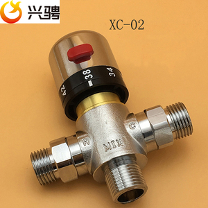 "Image 4 - Free Shipping G1/2""/DN15 Thermostatic valve thermostatic mixing valve deck mounted Solar brass thermostatic valve pipeline valve"