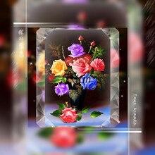 Стразы мозаика подарок рукоделие вышивка крестиком полная мозаичная инкрустация в виде роз ваза цветок картина домашний декор diy 5d алмазная живопись