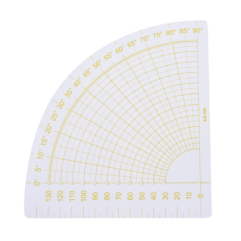 1Pcs Plastic Patchwork Fan Ruler Transparent+Yellow Quilting Sewing Tailor Circle Cutter Tool 6.3