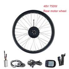 """Велосипед электрический комплект колеса Fatbike электрический привод для велосипеда заднее моторное колесо 750 Вт 2"""" велосипедный комплект Kt контроллер велосипеда"""