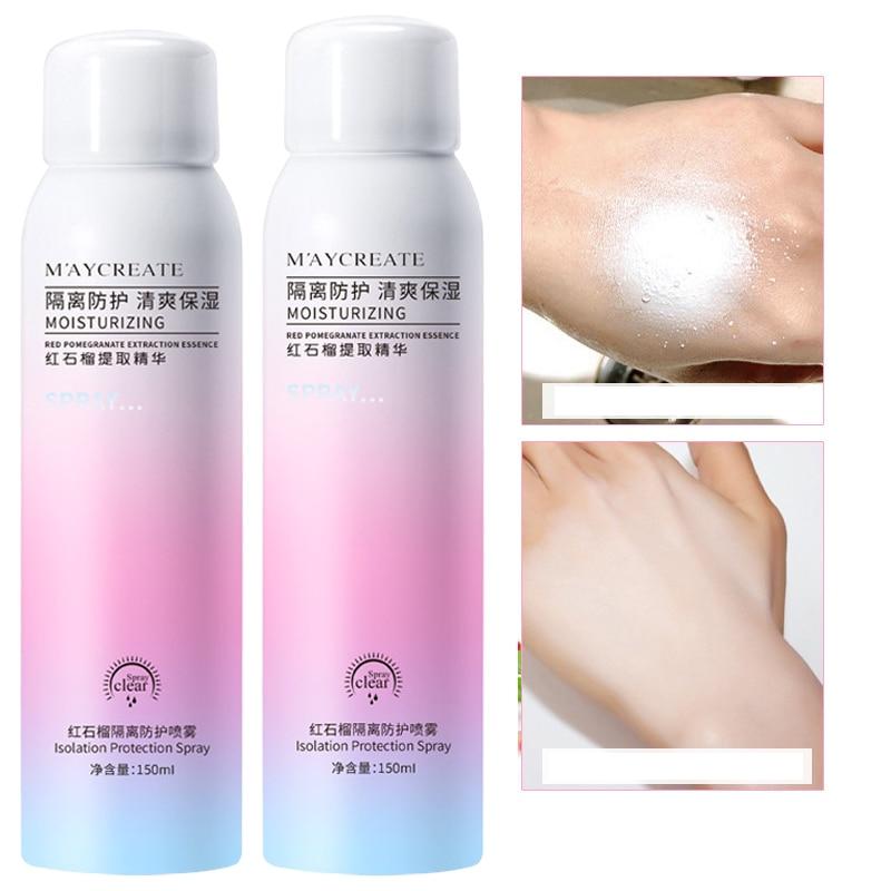 Makeup Moisturizing Sunscreen Spray Repair Protective Sunscreen Facial Care Sun Cream Sun Block Makeup Protector Solar Para Cara