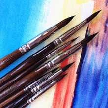 7ชิ้นเกรดสูงแปรงทาสีสีน้ำจิตรกรรมชุดแปรงที่มีคุณภาพสูงแปรงสีสำหรับอุปกรณ์ศิลปะ