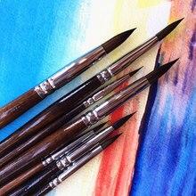 Pincel de pintura de alta calidad, juego de pincel para pintar con acuarelas, 7 Uds.
