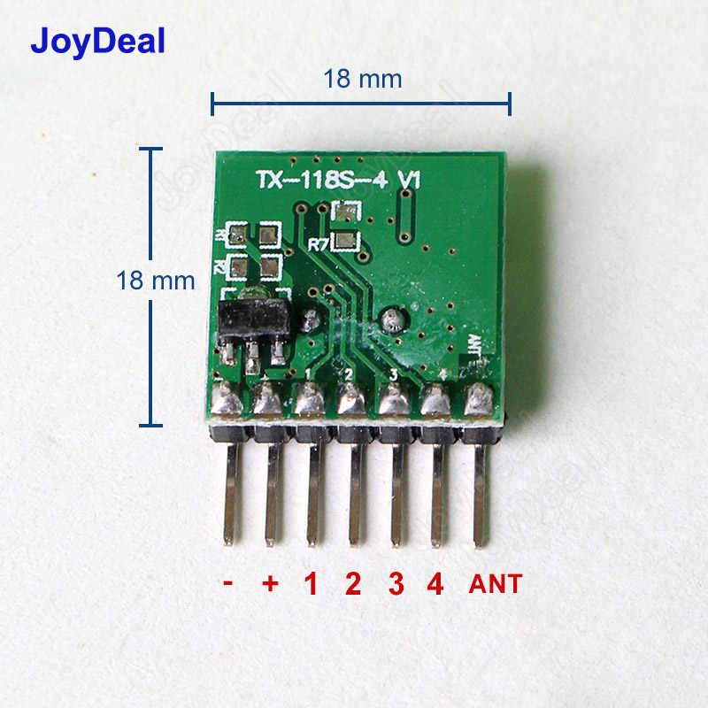 433 เมกะเฮิร์ตซ์เครื่องส่งสัญญาณ RF การเรียนรู้รหัสถอดรหัสโมดูล 433 เมกะเฮิร์ตซ์ไร้สาย 4 CH เอาต์พุต Diy ชุดสำหรับรีโมทคอนโทรล 1527 การเข้ารหัส