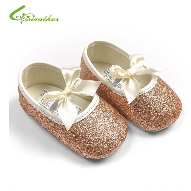 793c8d0ba1283 Bébé fille princesse Sparkly chaussures bébé mignon princesse or argent  chaussures tout-petits mode souple