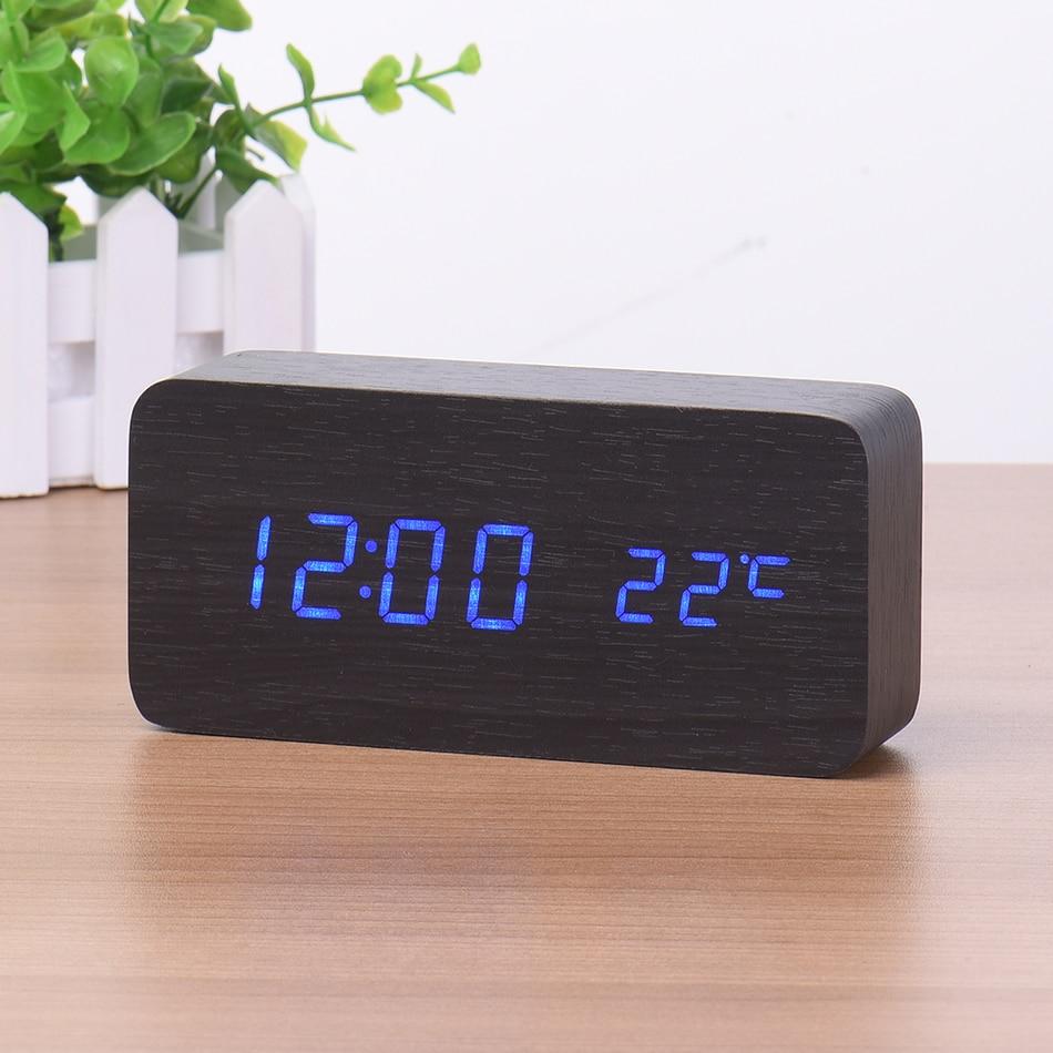 Led Digital Alarm Clock Despertador Sound Control Usb Aaa