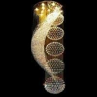 LED 현대 나선형 디자인 K9 크리스탈 샹들리에 조명 LED 샹들리에 대형 lustres 홈 조명 직경 55/80cm