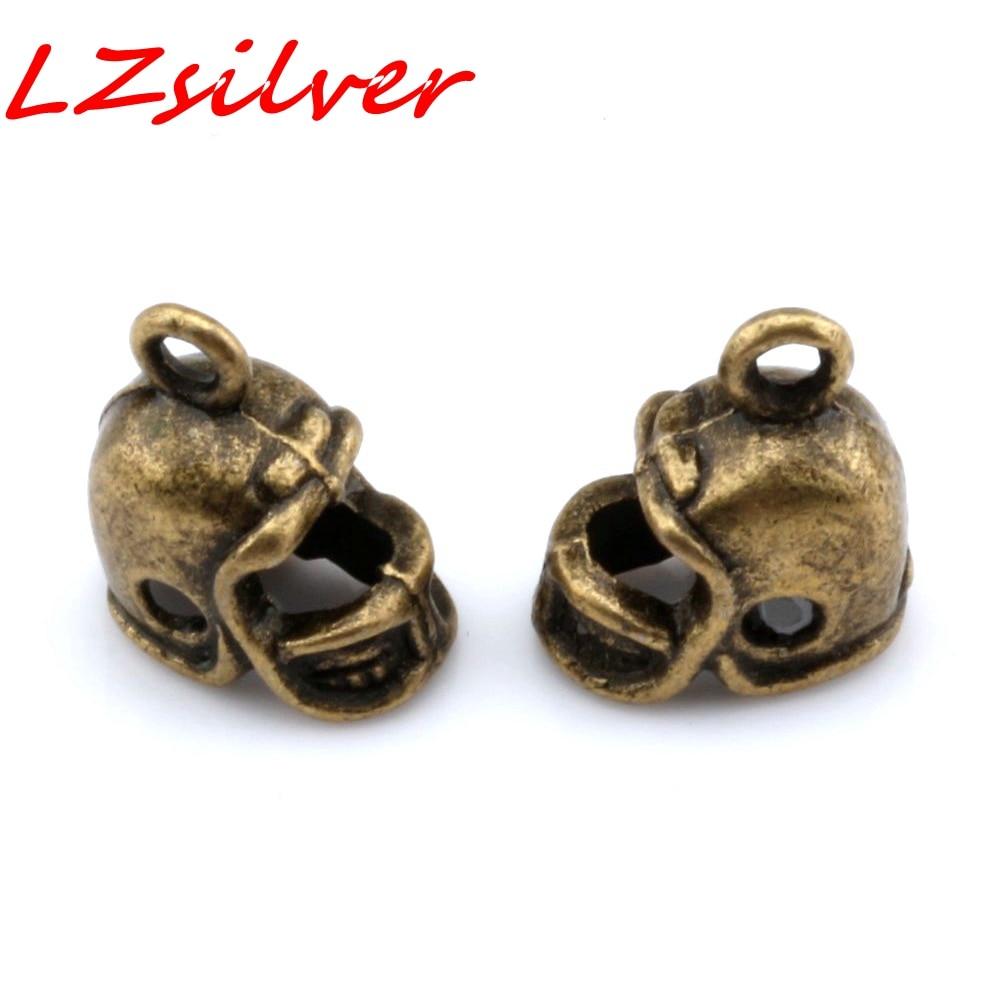Hot ! 12pcs Antique bronze 3D Small Football Helmet Charms pendants DIY Jewelry 13 x11mm nm306