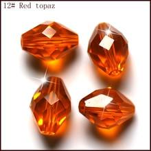 100pcs/lot 9x6mm 34fa Decorative Crystal Beads Wholesale Jewelry Making Cloth Accessory Loose DIY