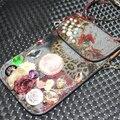 """5.5 """" New 3D moda Handmade Bling cristal strass brilho de diamante Phong Bag carteira bolsa de couro bolsa de ombro senhora clássica"""
