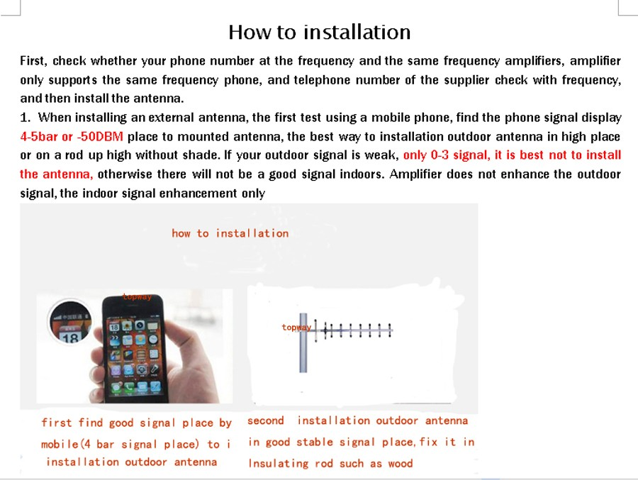 how to installation 01 yagi topway