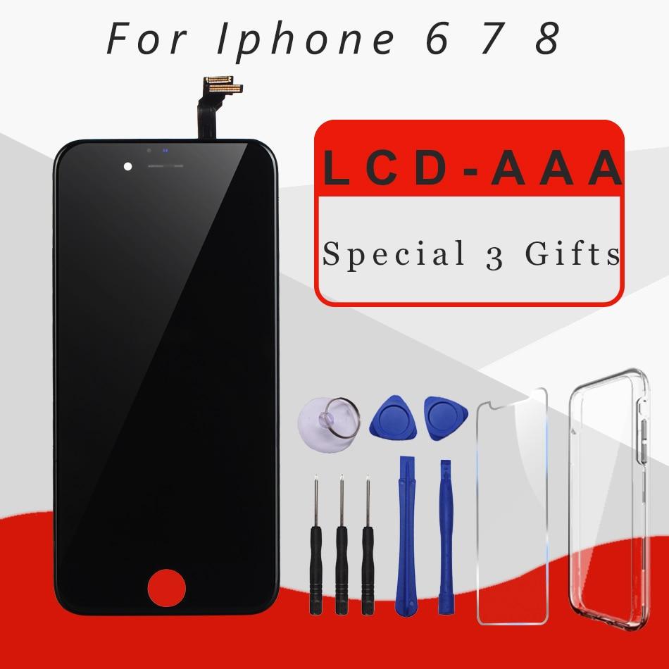 Calidad AAA pantalla LCD para iphone 6 pantalla Asamblea reemplazo Original con digitalizador piezas de teléfono para iphone 7 7 p 8 lcd