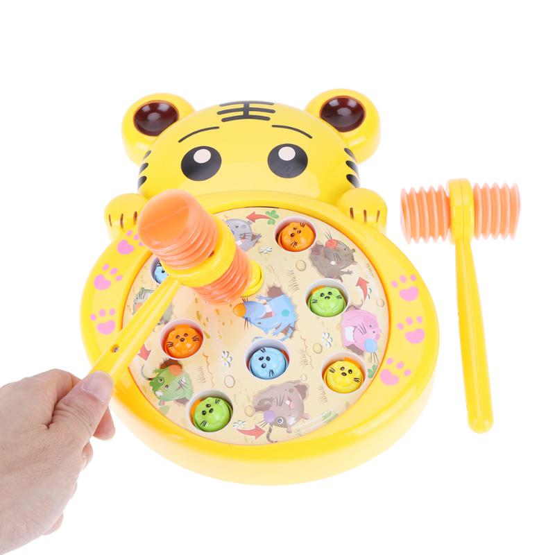 цена на Electric Hamster Music Toys Boys Hammer Playing Toy Children Family Knocking Games Girls Early Educational Toys Gift 2018 New