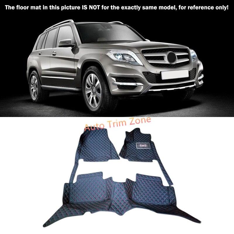 Black Interior Floor Mats & Carpet Foot Pad For Mercedes Benz GLK 2008-2015 X204 accessories for dodge journey fiat freemont 7seats jc 2010 2017 2015 2016 inner floor mats foot pad car leather carpet kits