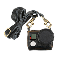 Cool Leather Protective Case For Gopro Hero 4 3 Action Camera With Lens Cover And Sling