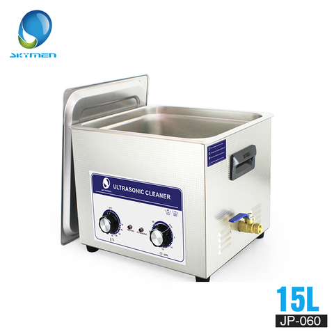 SKYMEN Ultrasonic Cleaner Bath 15L 360W ultrasonic bath  timer and heated adjustable large cleaner solution Pakistan