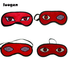 Anime Naruto Cosplay Prop Uchiha Madara Sharingan Licht Cover Mask Eye Cover Slaapmasker Blindfold Goggles Blinder Eye Patch(China)