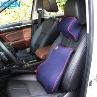 Headrest Neck Pillow Car Pillow Summer Space Memory Fabric Neck Headrest Car Covers Vehienlar Plaid Pillow