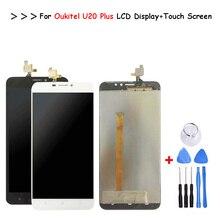 Черный/белый для Oukitel U20 plus ЖК-дисплей Дисплей + сенсорный экран планшета Ассамблея Ремонт Запчасти + Инструменты + клей для U20 плюс