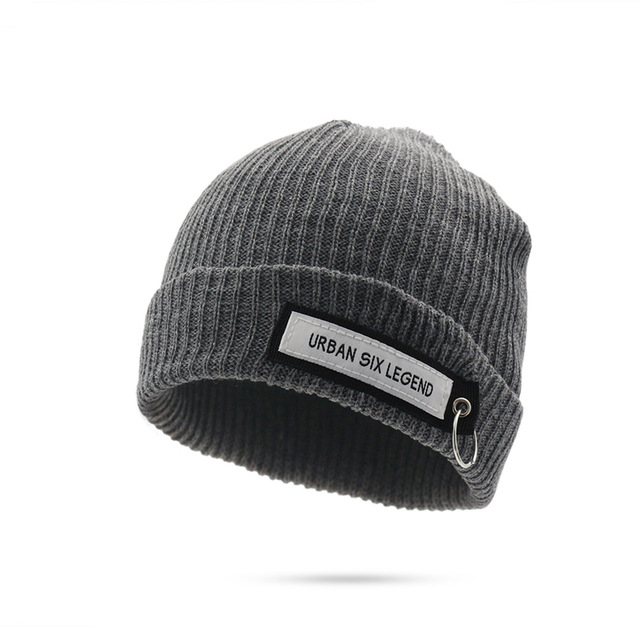 Winter Beanies Knitted Hat Men Warm Sports Thick Wool Skullies Beanies Hat  Female Woman Winter Black b8496a71bb9