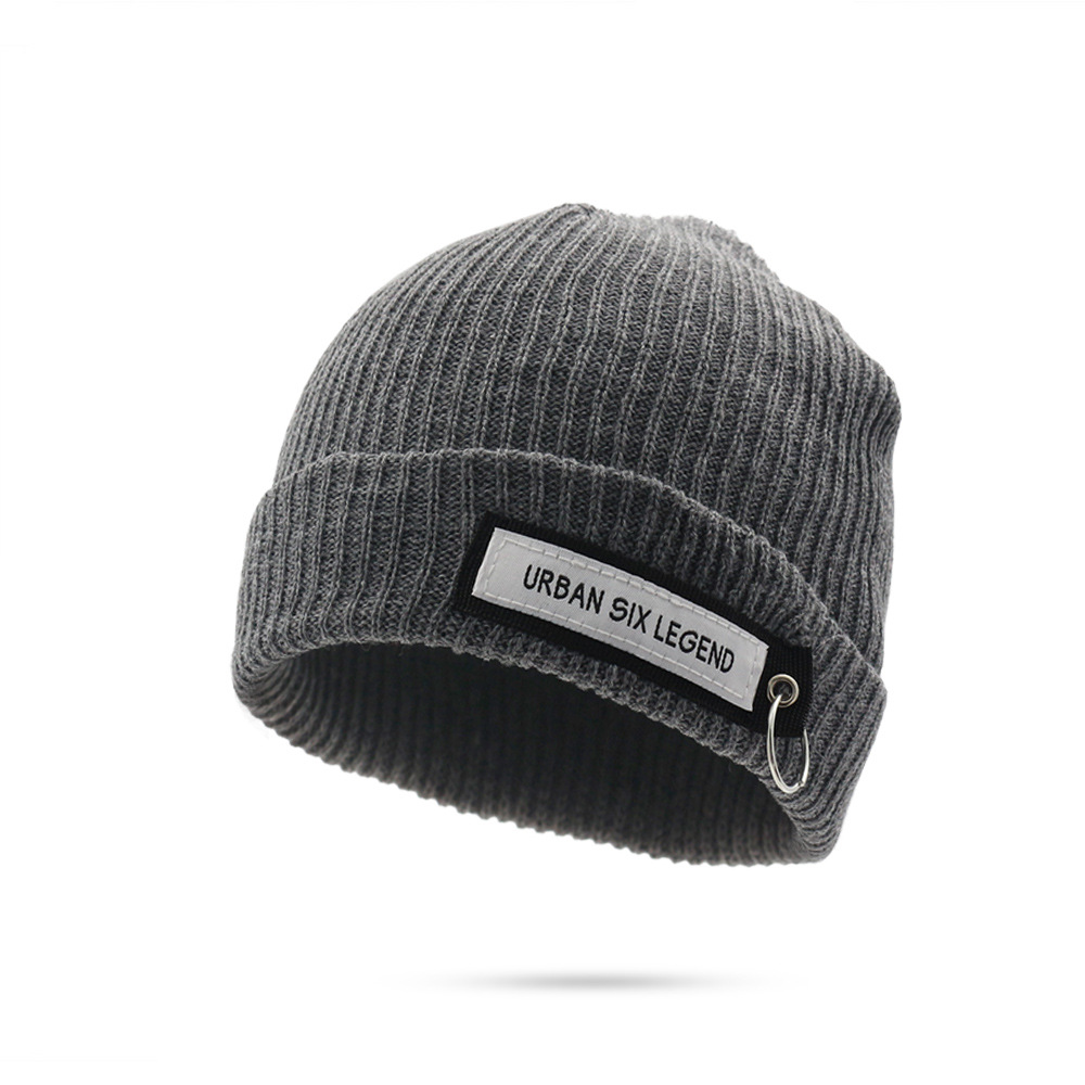 Winter   Beanies   Knitted Hat Men Warm Sports Thick Wool   Skullies     Beanies   Hat Female Woman Winter Black Hip Hop   Beanie   Hat