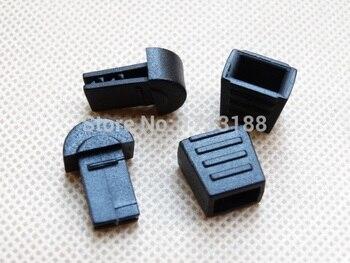 20 unids/pack 18*12mm cordón para tirar de la cremallera desmontable de plástico negro extremos para Paracord Gym accesorios de ropa
