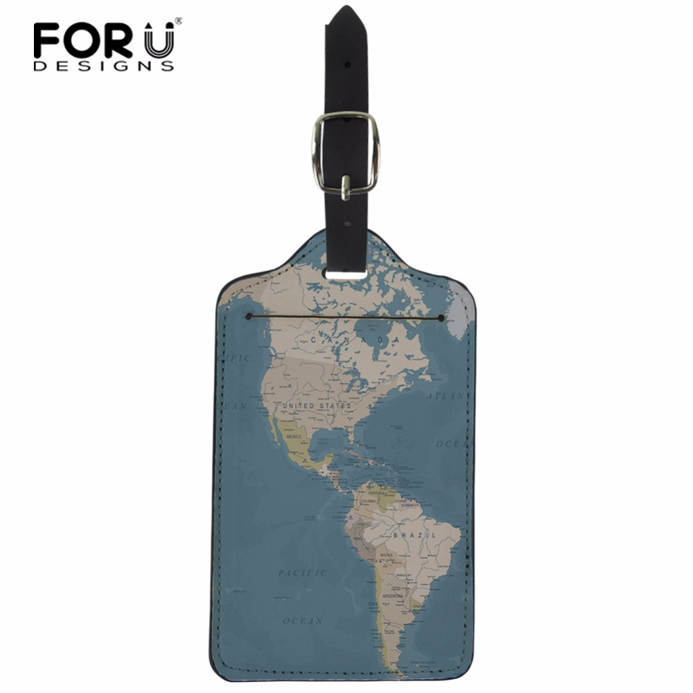Map Of The World Luggage Tag Label Travel Bag Label With Privacy Cover Luggage Tag Leather Personalized Suitcase Tag Travel Accessories