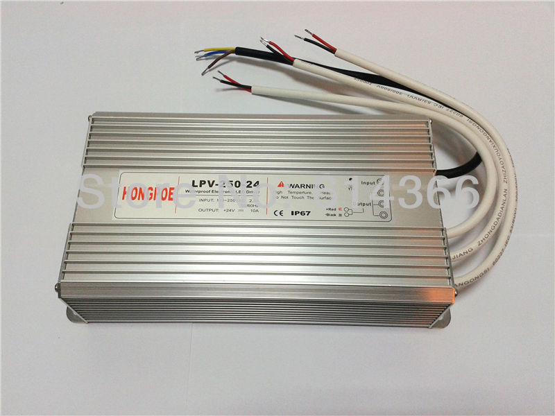 ФОТО led power supply 12v ip67 250w waterproof power supply 12V 20A 250W LPV-250-12