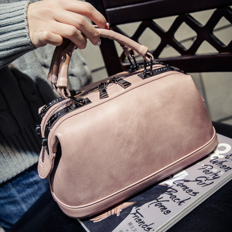 ФОТО 2017 High Quality Vintage Boston Bag Famous Designer Brand Bags Women Leather Handbags Messenger Bag Solid Small Tote Bag M39