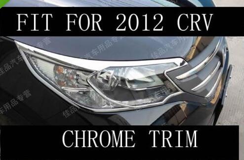 ФОТО Chrome Front head light cover trim trims fit for 2012 2013 2014 honda CRV CR-V