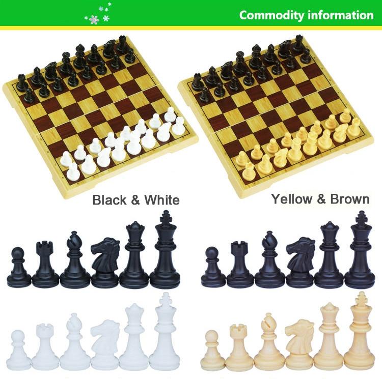 portátil pequeno grande tabuleiro de xadrez para