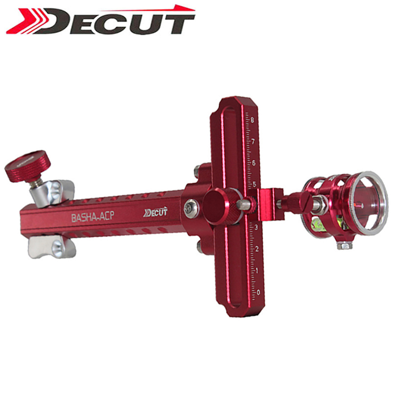 DECUT 1 pin Arco Compound Vista In Lega di Alluminio di Caccia di Tiro Mini Bow Sight Arco Punto di Mira AccessorioDECUT 1 pin Arco Compound Vista In Lega di Alluminio di Caccia di Tiro Mini Bow Sight Arco Punto di Mira Accessorio
