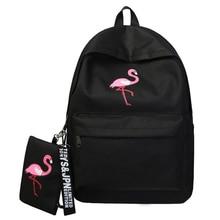 Backpacks Brand Women Simple Flamingo Printing Backpack For Teenage Girls