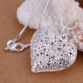 Pendant necklaces 925 silver necklace 925 silver fashion jewelry necklace heart jewelry wholesale free shipping usvp LP218